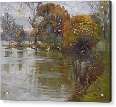 November 4th At Hyde Park Acrylic Print by Ylli Haruni