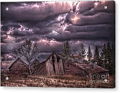 November Visits The Hollander Farm Acrylic Print by The Stone Age