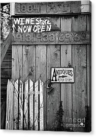 Now Open Acrylic Print by Mel Steinhauer