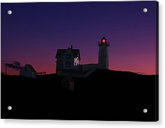 Nubble At Night Acrylic Print by Andrea Galiffi
