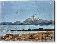 Nubble Light On Cape Neddick Acrylic Print by Jeff Folger