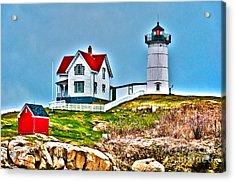Nubble Lighthouse Cape Neddick Maine 2 Acrylic Print by Glenn Gordon