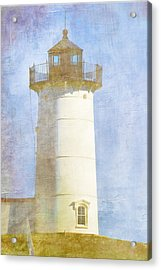 Nubble Lighthouse Acrylic Print by Carol Leigh