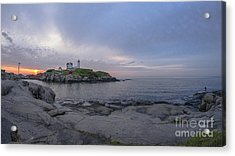 Nubble Lighthouse Acrylic Print by Steven Ralser