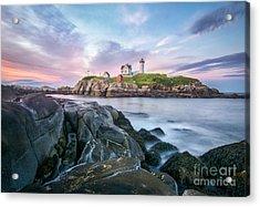 Nubble Sunset Acrylic Print by Scott Thorp