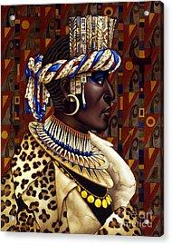 Nubian Prince Acrylic Print by Jane Whiting Chrzanoska