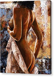 Nude 07 Acrylic Print by Emerico Imre Toth