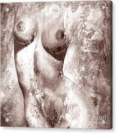Nude Details - Digital Gray Color Version Acrylic Print by Emerico Imre Toth