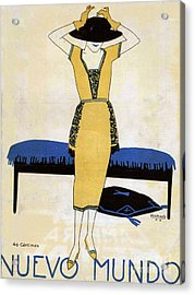 Nuevo Mundo  1920 1920s Spain Cc Womens Acrylic Print by The Advertising Archives