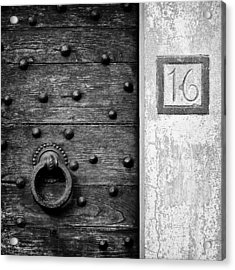 Number 16 Acrylic Print by Dave Bowman
