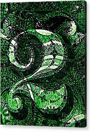 Number Two In Green  Acrylic Print by Chris Berry