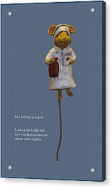 Nurse Mouse Acrylic Print by Sally Weigand
