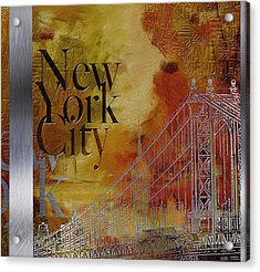 Ny City Collage - 6 Acrylic Print by Corporate Art Task Force
