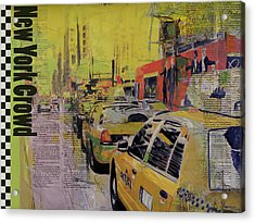 Ny City Collage Acrylic Print by Corporate Art Task Force
