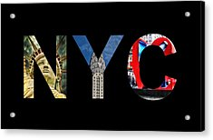 Nyc  Acrylic Print by Celestial Images