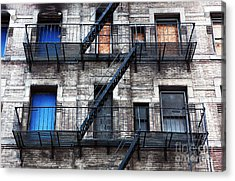 Nyc Escape Acrylic Print by John Rizzuto