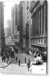 Nyc Financial District Acrylic Print by Underwood Archives