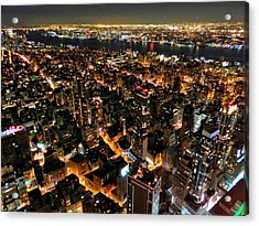 Nyc - From The Empire State Bldg. 002 Acrylic Print by Lance Vaughn
