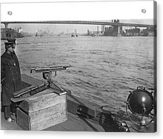 Nyc Prohibition Police Boat Acrylic Print by Underwood Archives