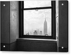 Nyc Room With A View Acrylic Print by Nina Papiorek