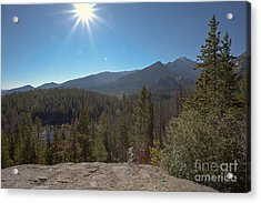 Nymph Lake And Longs Peak Acrylic Print by Kay Pickens