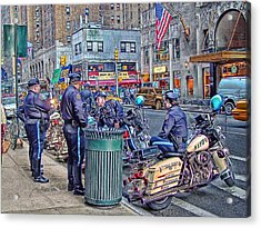 Nypd Highway Patrol Acrylic Print by Ron Shoshani