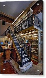 Nypl Genealogy Room  Acrylic Print by Susan Candelario