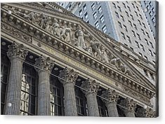 Nyse  New York Stock Exchange Wall Street Acrylic Print by Susan Candelario