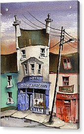 O Heagrain Pub Viewed 14254 Times Acrylic Print by Val Byrne