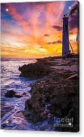 Oahu Lighthouse Acrylic Print by Inge Johnsson