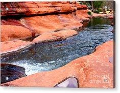 Oak Creek At Slide Rock Acrylic Print by Carol Groenen