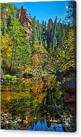 Oak Creek Beauty Acrylic Print by Brian Lambert