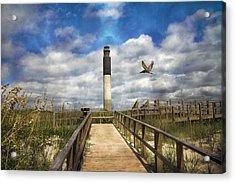 Oak Island Lighthouse Acrylic Print by Betsy Knapp