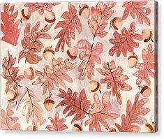 Oak Leaves And Acorns Acrylic Print by Neela Pushparaj