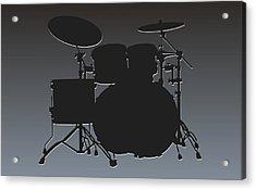 Oakland Raiders Drum Set Acrylic Print by Joe Hamilton