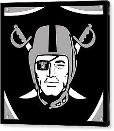Oakland Raiders Acrylic Print by Tony Rubino