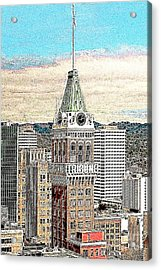 Oakland Tribune Building Oakland California 20130426 Acrylic Print by Wingsdomain Art and Photography