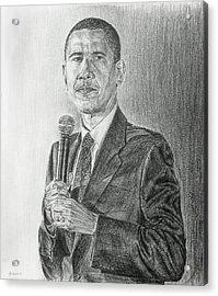 Obama 3 Acrylic Print by Michael Morgan