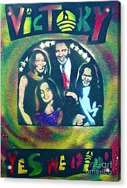 Obama Family Victory Acrylic Print by Tony B Conscious
