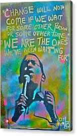 Obama In Living Color Acrylic Print by Tony B Conscious