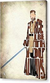 Obi-wan Kenobi - Ewan Mcgregor Acrylic Print by Ayse Deniz
