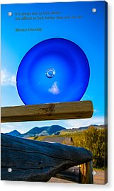 Observing The Future Acrylic Print by Omaste Witkowski