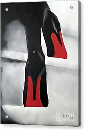 Obsession Acrylic Print by Rebecca Jenkins