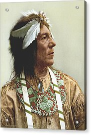 Obtossaway, An Ojibwa Chief Acrylic Print by Underwood Archives