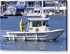 Oc Sheriff Ready For The Fire Acrylic Print by Shoal Hollingsworth