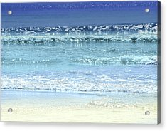 Ocean Colors Abstract Acrylic Print by Elena Elisseeva