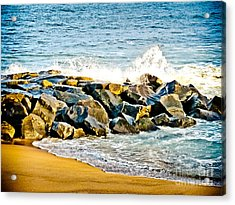 Ocean Jetty Acrylic Print by Colleen Kammerer