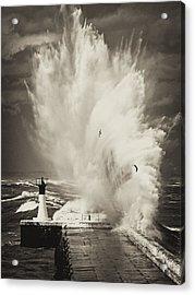 Ocean Motion Acrylic Print by Andrew  Hewett