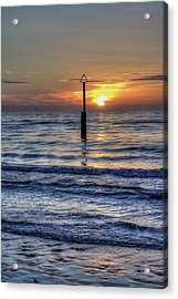 Ocean Sunset Acrylic Print by Ian Mitchell