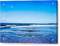 Ocean Trail At Isla Verde Acrylic Print by Sandra Pena de Ortiz